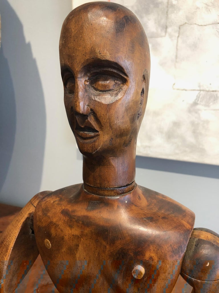 19th Century French Beechwood Artists Mannequin In Good Condition For Sale In Middleburg, VA