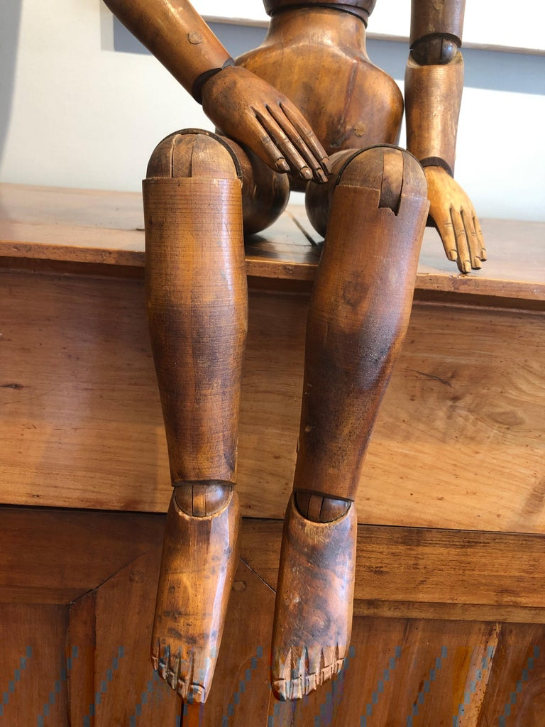 19th Century French Beechwood Artists Mannequin For Sale 1