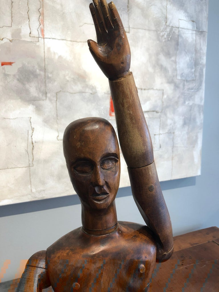 19th Century French Beechwood Artists Mannequin For Sale 2