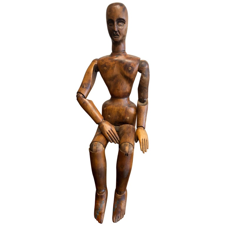 19th Century French Beechwood Artists Mannequin For Sale