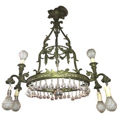 19th Century French Belle Epoque Gilt Bronze Chandelier