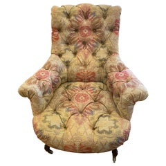 19th Century French Belle Epoque Tufted Armchair