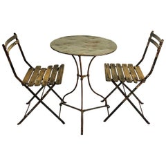 19th Century French Bistro Table and Chairs