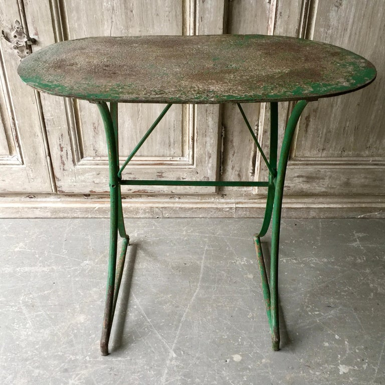 Hand-Crafted 19th Century French Bistro Table For Sale
