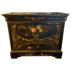 19th Century French Black Lacquered Louis Philippe Commode