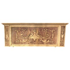 19th Century French Bleached and Carved Neoclassical Panel