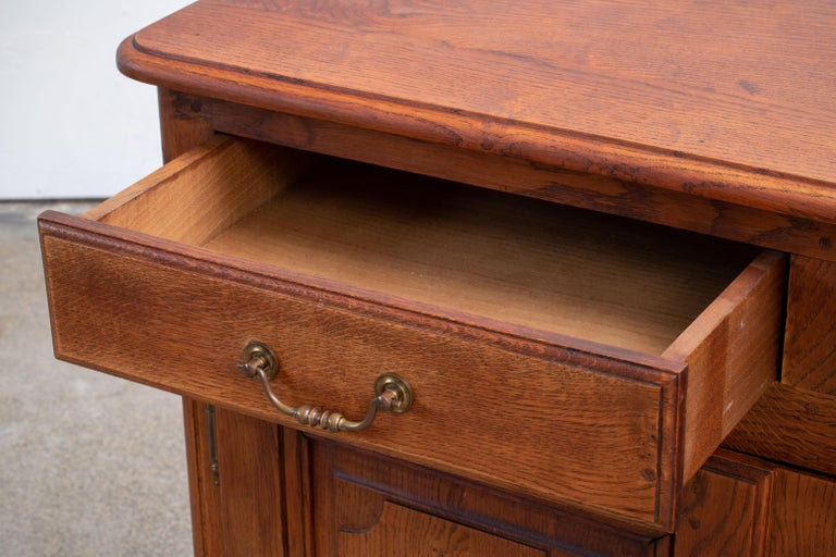 19th Century French Bleached Oak Buffet Cabinet For Sale 2