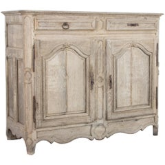 19th Century French Bleached Oak Buffet Cabinet