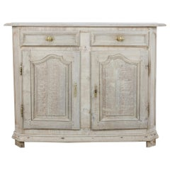 19th Century French Bleached Oak Buffet