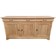 19th Century French Bleached Walnut Buffet