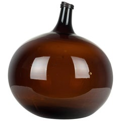 19th Century French Blown Glass Demijohn Bottle