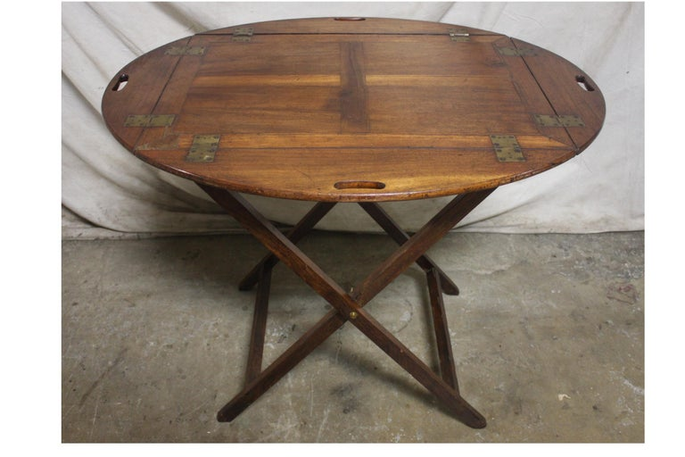 19th Century French Boat Table In Good Condition For Sale In Atlanta, GA