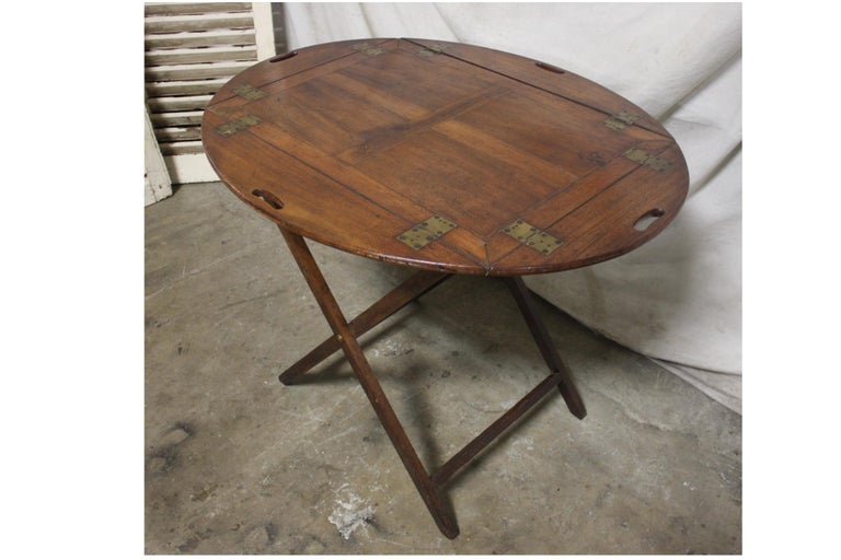 Walnut 19th Century French Boat Table For Sale