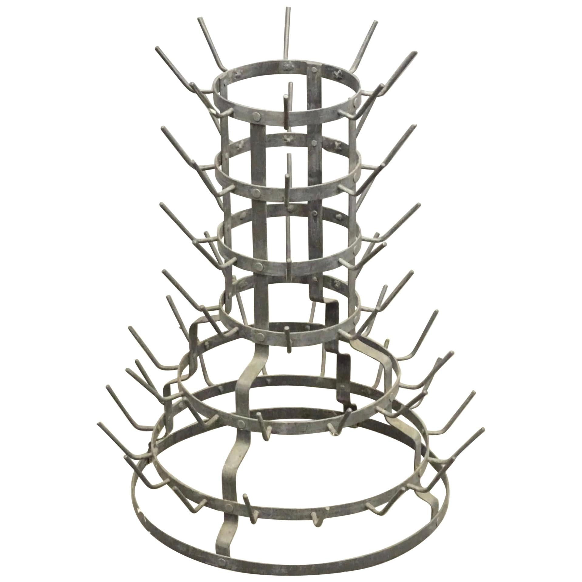 19th Century French Bottle Drying Rack