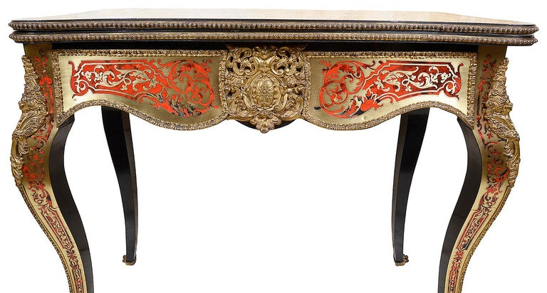 19th Century French Boulle Card Table For Sale 3