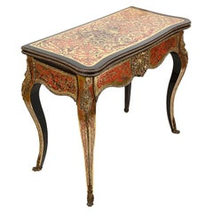 19th Century French Boulle Card Table