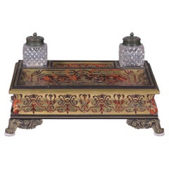 19th Century French Boulle Inkwell of Large Proportions