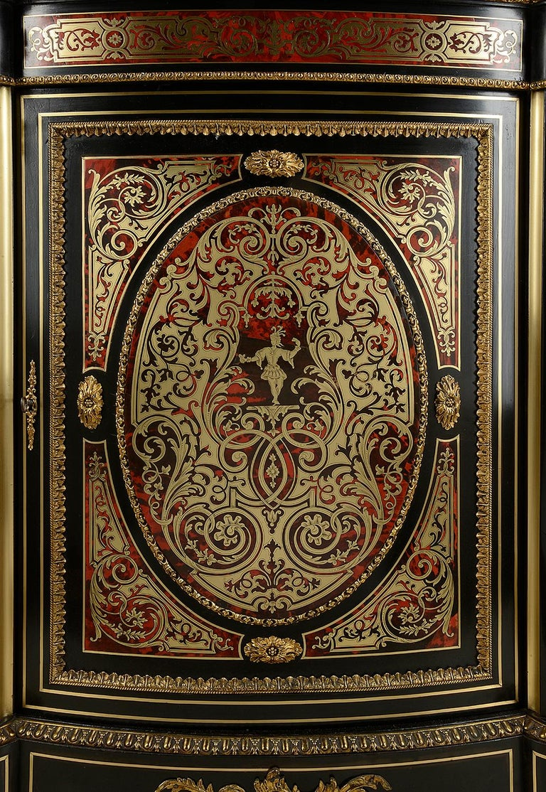 Louis XVI 19th Century French Boulle Inlaid Side Cabinet or Credenza For Sale