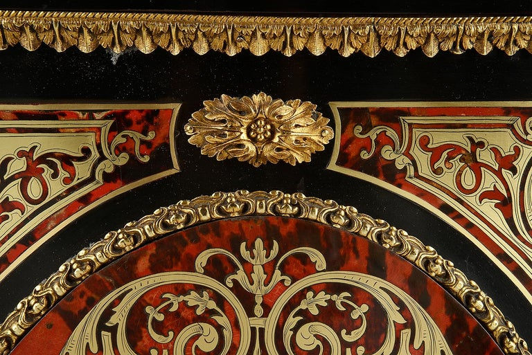 19th Century French Boulle Inlaid Side Cabinet or Credenza In Good Condition For Sale In Brighton, Sussex