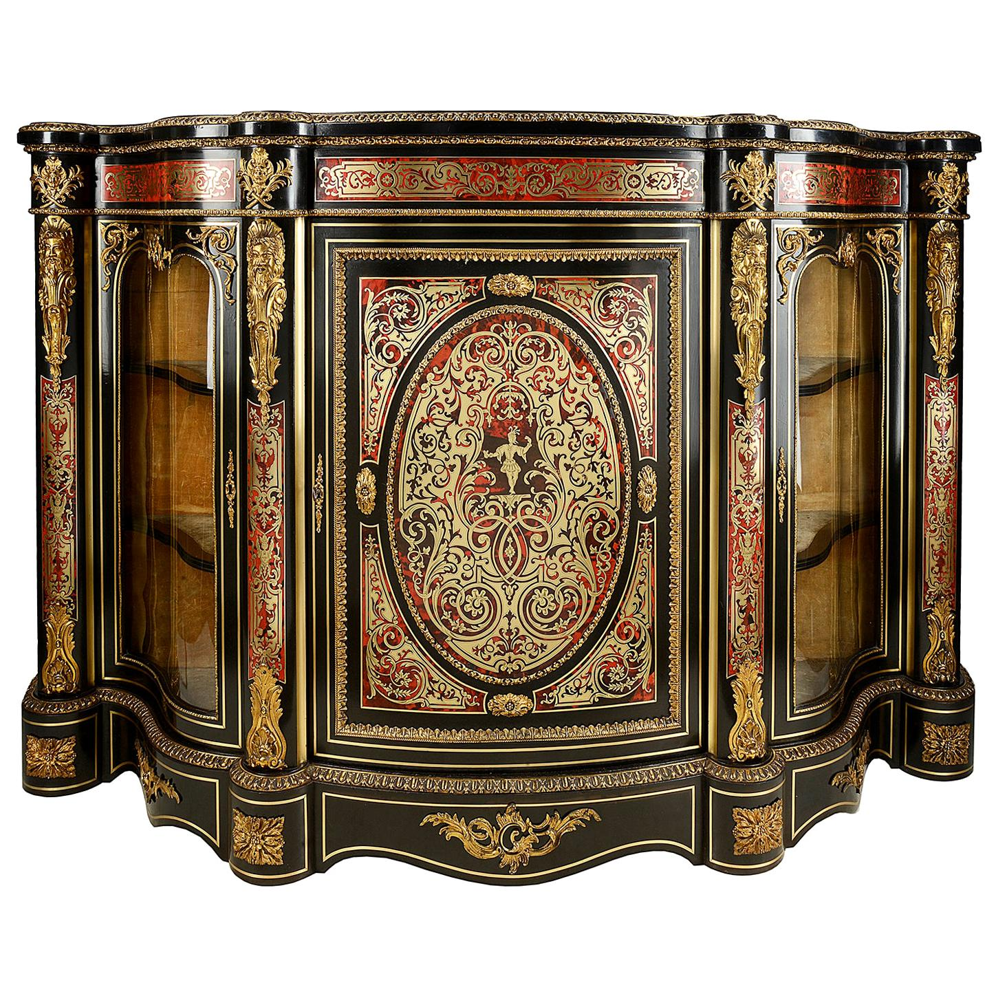 19th Century French Boulle Inlaid Side Cabinet or Credenza