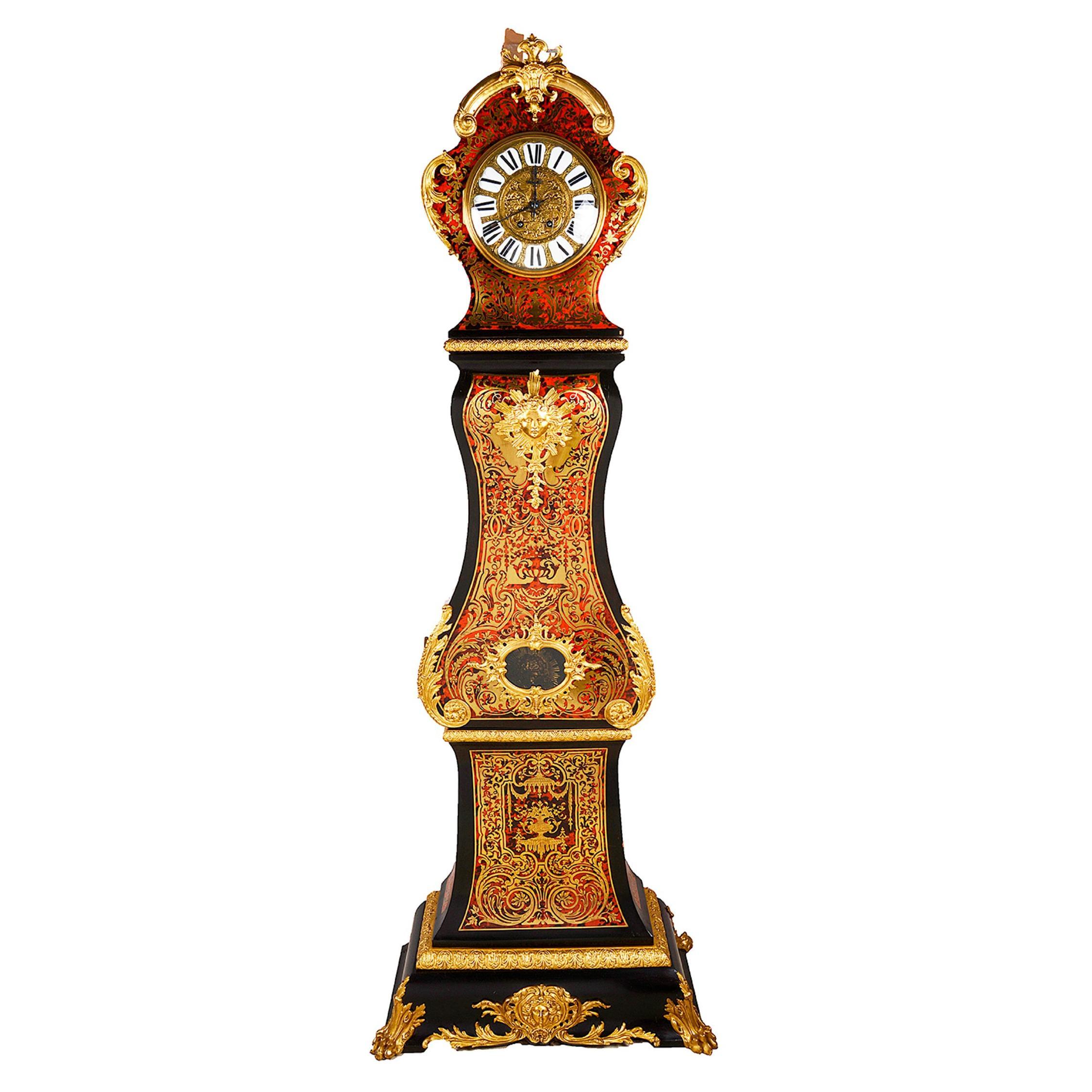 19th Century French Boulle Longcase Clock