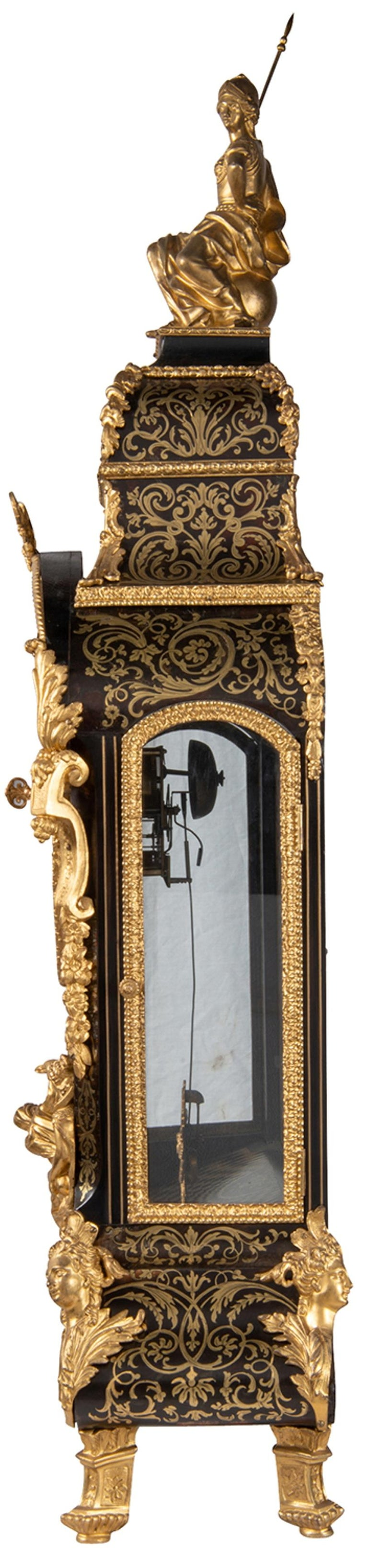 19th Century French Boulle Mantel Clock For Sale 5