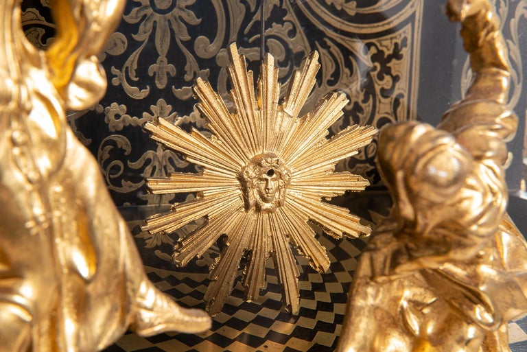 19th Century French Boulle Mantel Clock For Sale 7