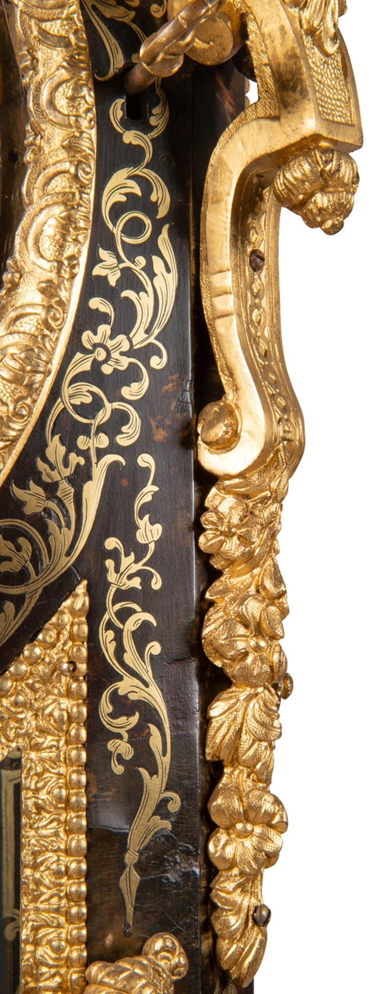 19th Century French Boulle Mantel Clock In Good Condition For Sale In Brighton, Sussex