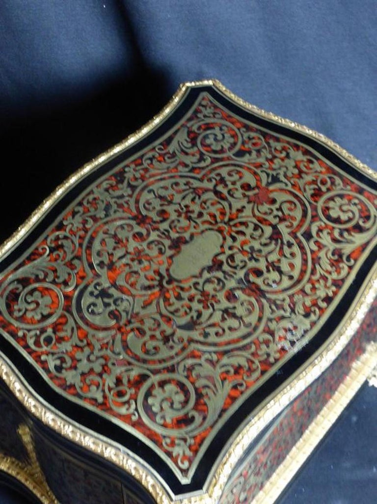 19th Century French Boulle Napoleon III Marquetry Liquor Cellar For Sale 2