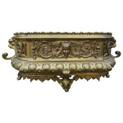 19th Century French Brass Jardiniere or Planter