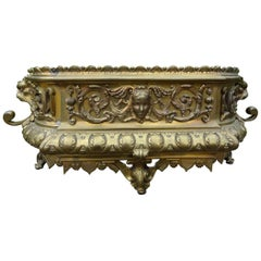19th Century French Brass Jardinière or Planter