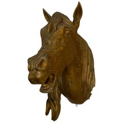 19th Century French Brass Wall Mount Horse Head Trade Sign