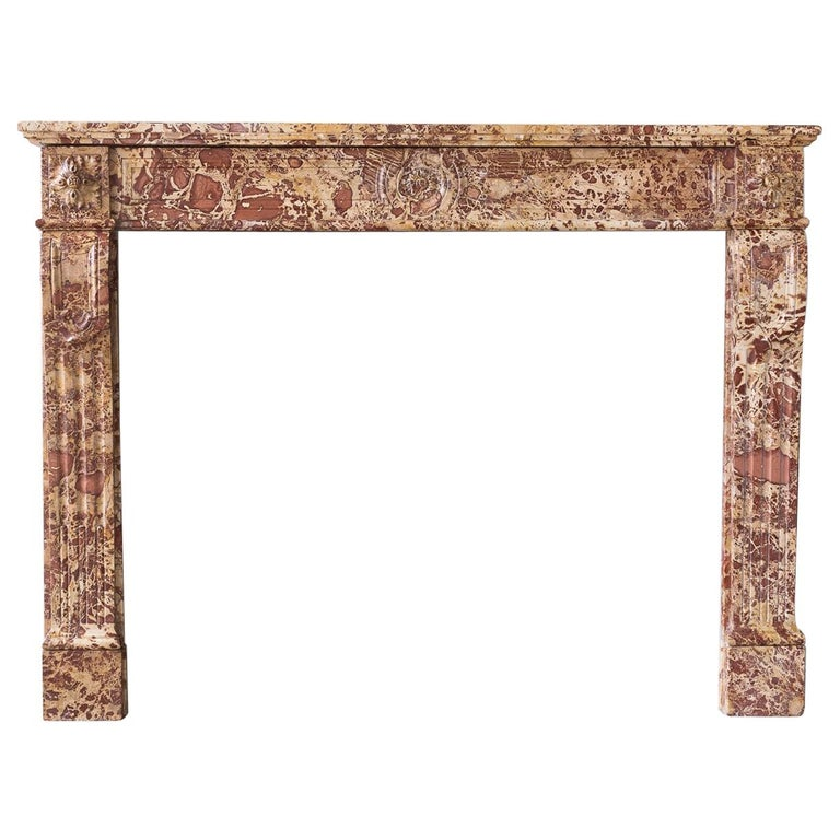 19th Century French Breche Fireplace For Sale