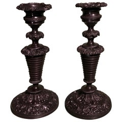 19th Century French Bronze Candlesticks