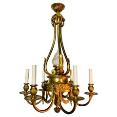 19th Century French Bronze Chandelier