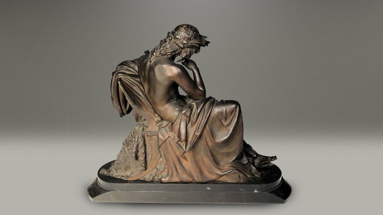 Cast 19th Century French Bronze Figure of Orpheus For Sale