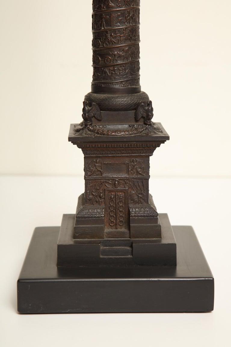 19th Century French, Bronze, Grand Tour Place Vendome Column For Sale 3