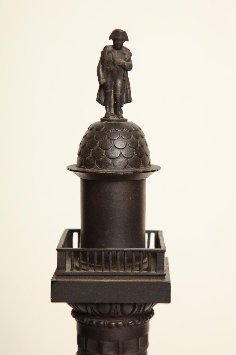 19th Century French, Bronze, Grand Tour Place Vendome Column For Sale 4