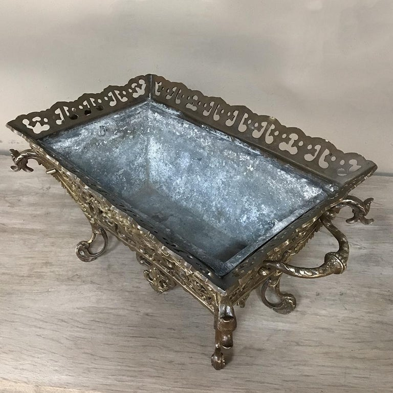 19th Century French Bronze Jardiniere For Sale 5