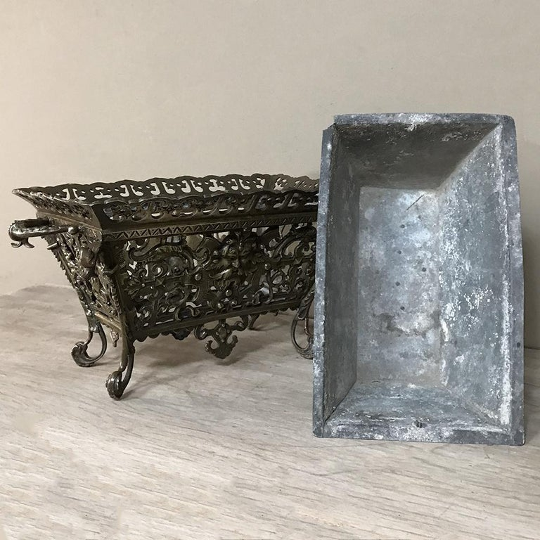 19th Century French Bronze Jardiniere For Sale 6