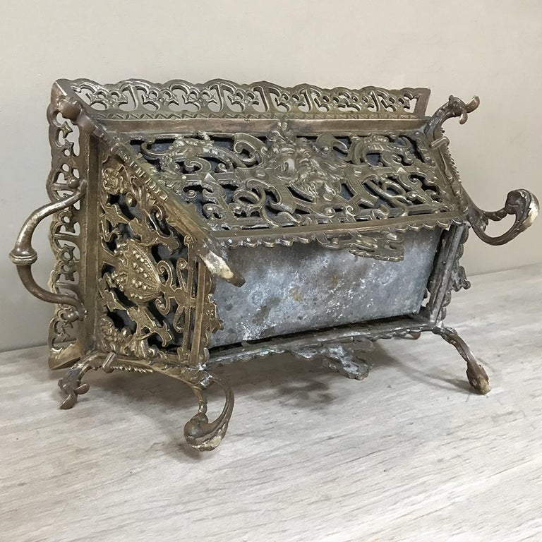 19th Century French Bronze Jardiniere For Sale 8