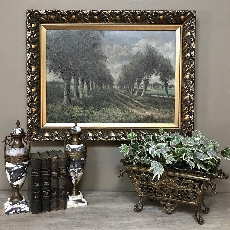 Renaissance 19th Century French Bronze Jardiniere For Sale
