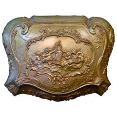 19th Century French Bronze Jewel Box