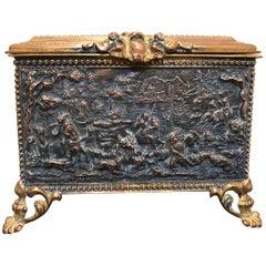 19th Century French Bronze Keepsake Box