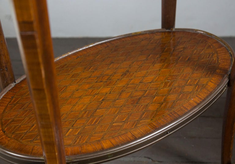 Mahogany 19th Century French Bronze Mounted Parquetry Side Table For Sale