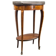 19th Century French Bronze Mounted Parquetry Side Table