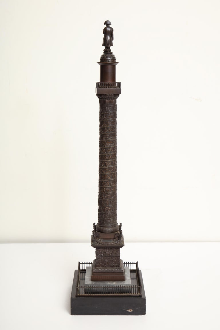 19th Century French, Bronze Place Vendome Column For Sale 8