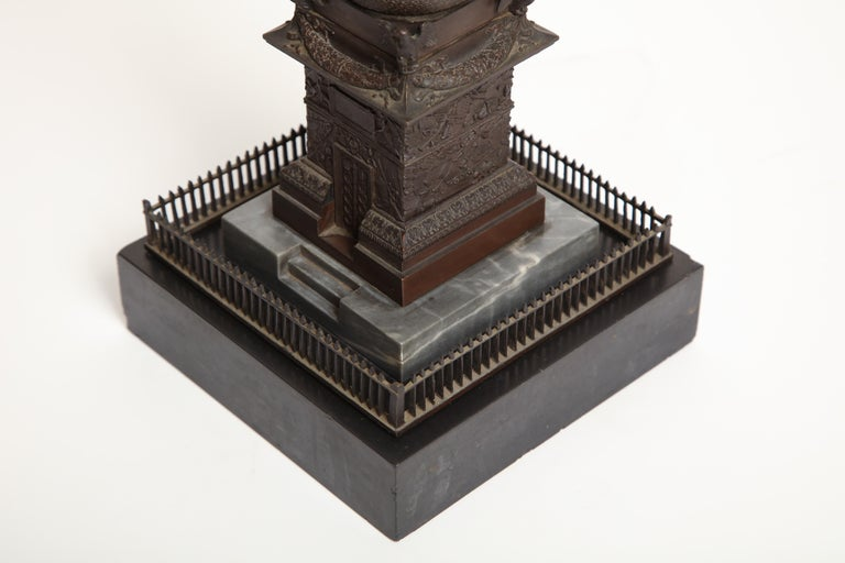 19th Century French, Bronze Place Vendome Column For Sale 10