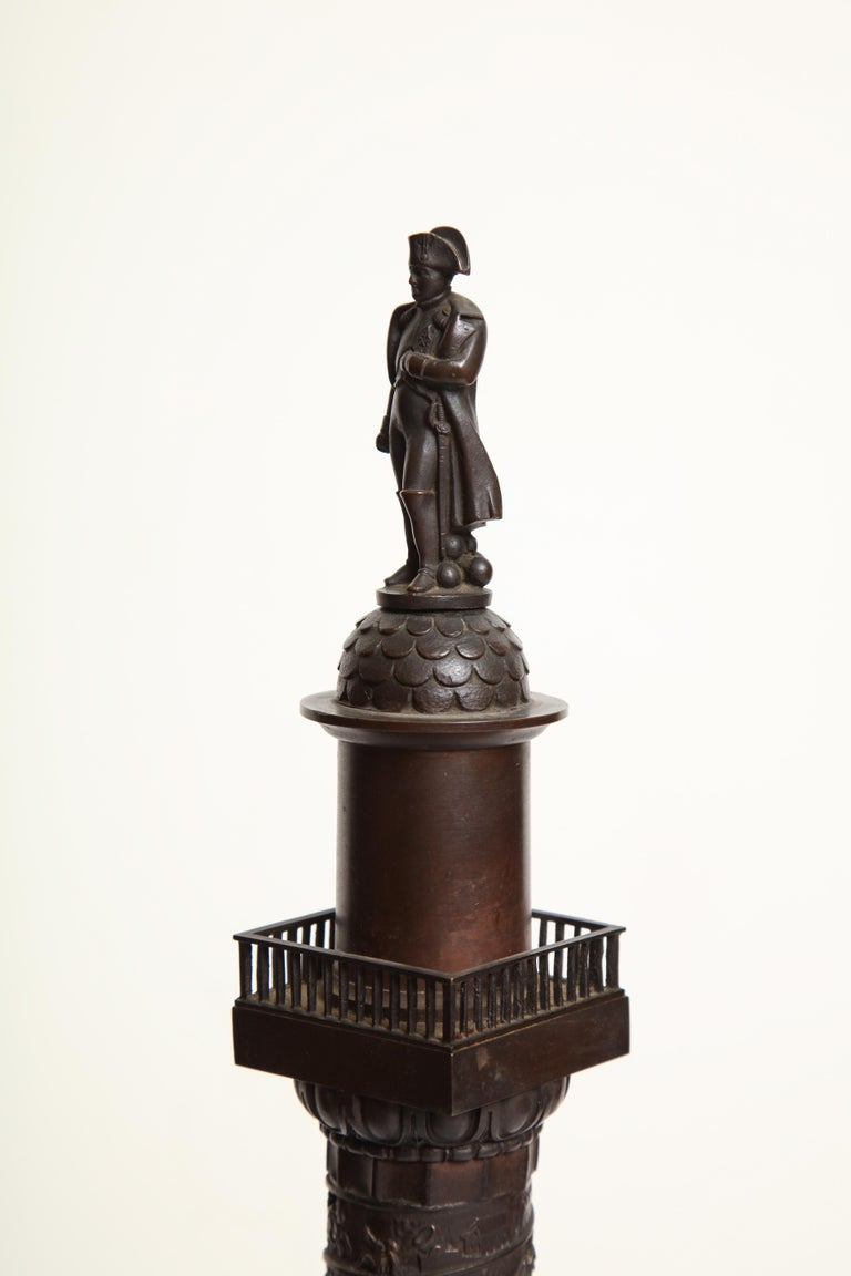 19th Century French, Bronze Place Vendome Column For Sale 11