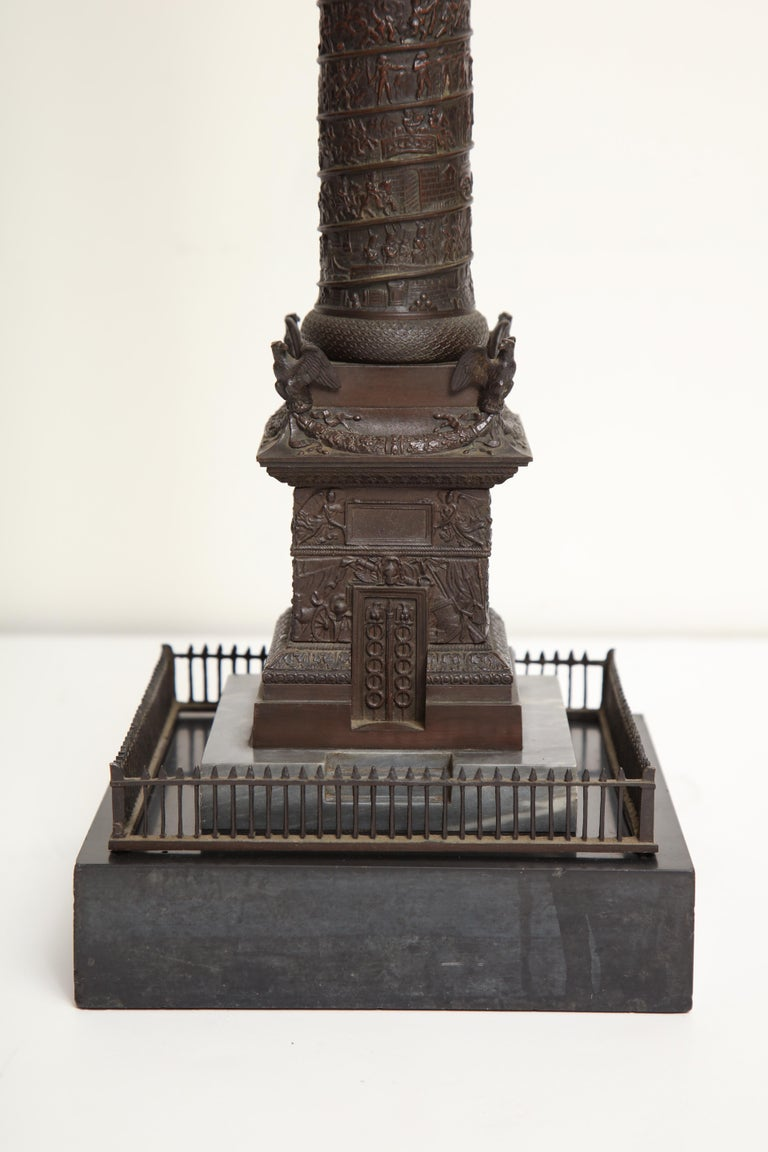 19th Century French, Bronze Place Vendome Column For Sale 2